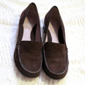 Kenneth Cole NY Chocolate Brown Suede Loafers